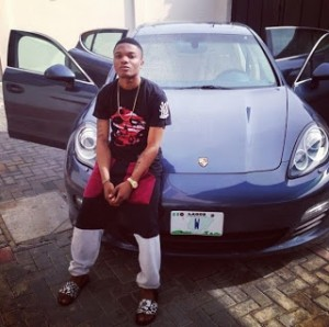 [Photos] Wizkid thankful for surviving his Porsche Panamera S car crash