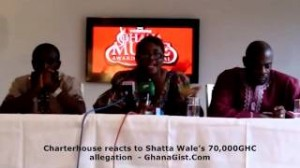 Charterhouse reacts to Shatta Wale's 70,000 GHC allegation