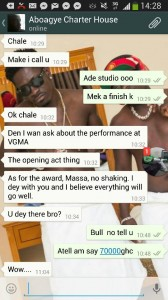 Photo proof from Shatta Wale captioned, Charterhouse is a liar