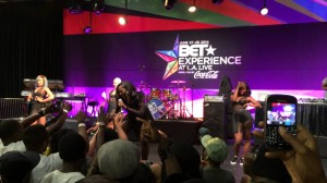 Tiwa Savage performs at the BET Experience at L.A. Live