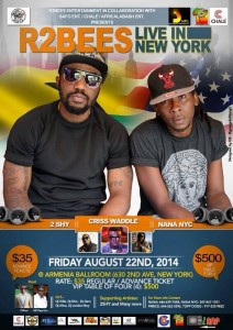 R2Bees to rock New York City August 22