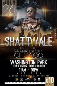 Shatta Wale in Chicago for Ghanafest Weekend