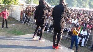 R2Bees live performance at Ghana Party in the Park 2014