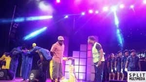 [Video] Choir Master enacts The Taxi Driver vs Policeman Wahala at The Versatile Show 2014