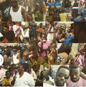 Sarkodie and his family spent Christmas feeding less fortunate kids