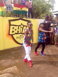 Behind The Scene + Photos : Stonebwoy and Patoranking complete video shoot for Pull Up Remix