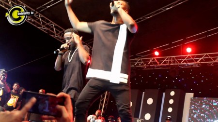 Sarkodie and Pappy Kojo freestyle unreleased song at Vodafone X Concert