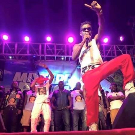 Sarkodie and Shatta Wale live performance at the Shatta Beach Party