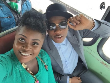 Photos: Kaakie & Wizkid In South Africa, Shoots For New Glo Project