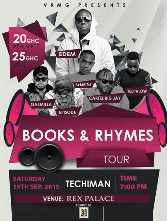 """Edem Hits Sunyani & Techiman This Weekend For """"Books & Rhymes"""" Album Tour"""