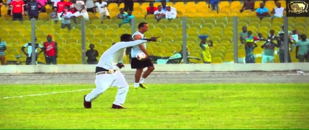 Shatta Wale performs at the Mo Ibrahim Governance Cup