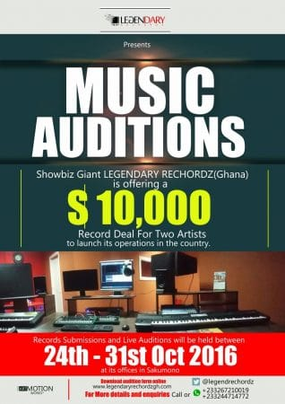 Enter for a chance to win a $10,000 Record Deal with Legendary Rechordz