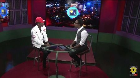 Winford Williams interviews Stonebwoy on OnStage TV in Jamaica