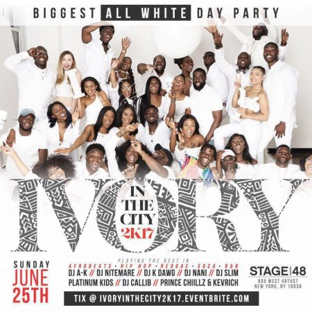 The Biggest All White Day Party in New York City #IvoryInTheCity2K17
