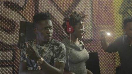 Shatta Wale and Ebony Reigns recording session