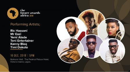 Mr Eazi, Yemi Alade, Timi Dakolo, Kenny Blaq, Teni the Entertainer, Ric Hassani to perform at The Future Awards Africa this Sunday