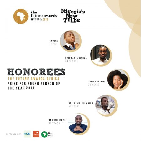 Davido Amongst Others As Honorees For The Future Awards Africa Prize for Young Person of the Year 2018